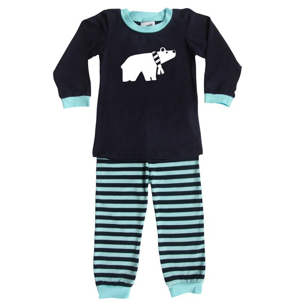 Rocket Bug Polar Bear Pajama Set for Infants and Toddlers