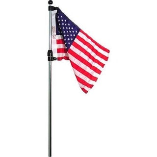 Seasense Flag Pole With Us Flag Telescoping