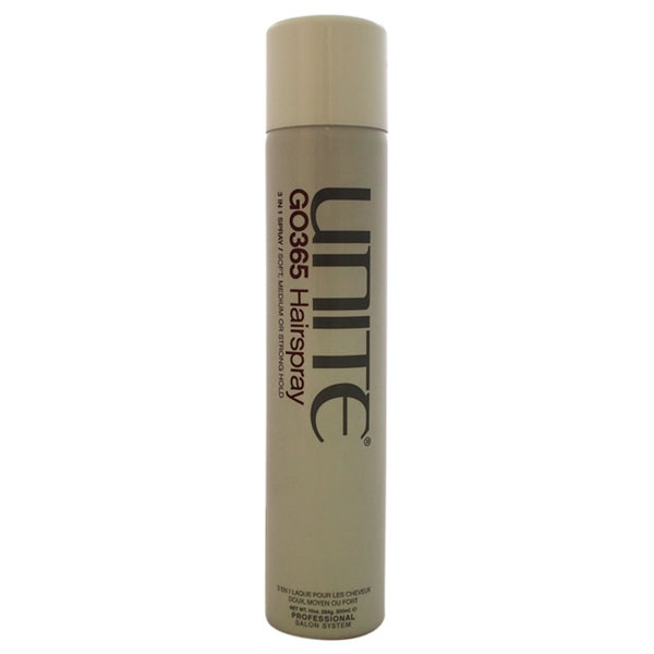 Unite GO365 Hairspray 3-in-1 Soft, Medium or Strong Hold 10-ounce Hair Spray