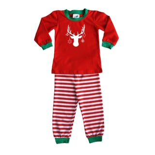 Rocket Bug Holiday Decked out Deer Pajama Set for Infants and Toddlers