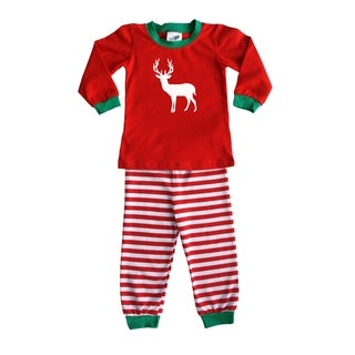 Rocket Bug Holiday Woodland Deer Pajama Set for Infants and Toddlers
