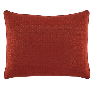 Tommy Bahama Daintree Tropic Diamond Red Embroidered Breakfast Pillow