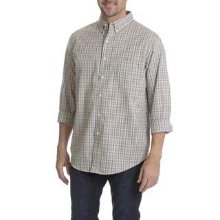 Narragansett Traders Men's Plaid Long Sleeve Collared Shirt