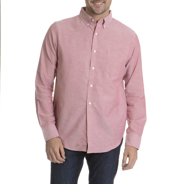 Reed Edward Men's Chambray Long Sleeve Collared Shirt