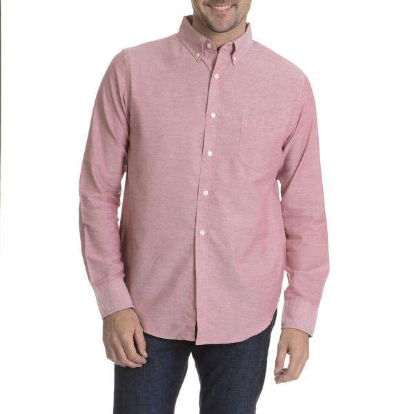 Reed Edward Men's Chambray Long Sleeve Collared Shirt