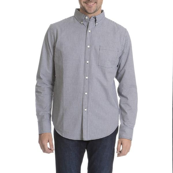 Reed Edward Men's Check Long Sleeve Collared Shirt