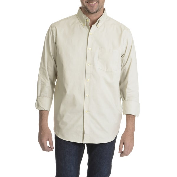 Narragansett Traders Men's Tonal Check Long Sleeve Collared Shirt