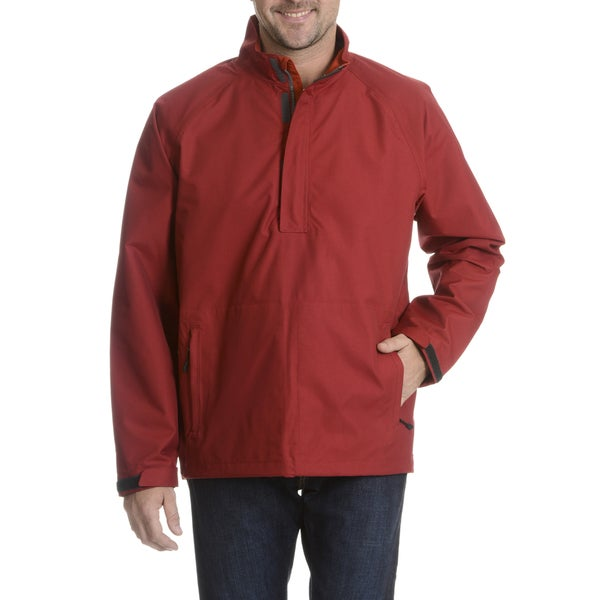Wedge Men's Solid Half Zip Soft Shell Jacket