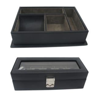 Morelle & Co. 5 Watch Box and Desk Organizer Gift Set