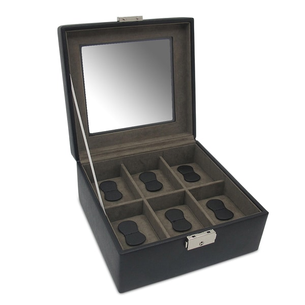 Morelle & Co. David Leather 6 Watch Box