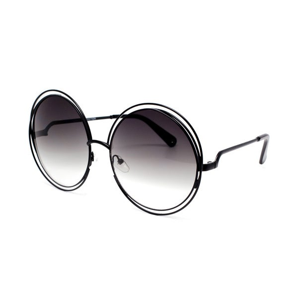 Epic Eyewear Designer Inspired Double Circle Frame Round Oversized Sunglasses