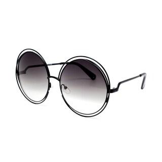Epic Eyewear Designer Inspired Double Circle Frame Round Oversized Sunglasses