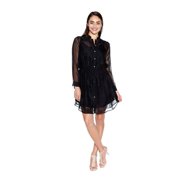 Women's Cher Silk Shirt Dress