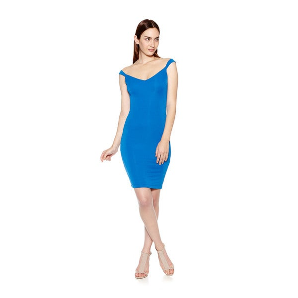 Women's Side Show Fitted Cobalt Dress
