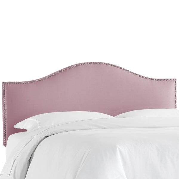 Skyline Furniture Shantung Lilac Nail Button Headboard