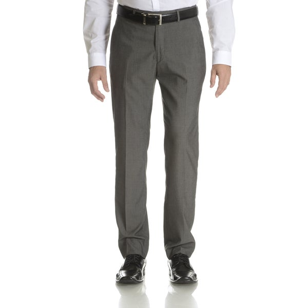 Perry Ellis Men's Grey Flat Front Dress Pant Suit Separate