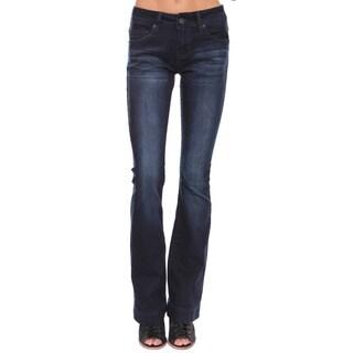 Beston Juniors' Dark Blue Denim Flare Bell Bottom Jeans