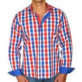 Giorgio Men's Slim Fit Plaid Pure Cotton Brato Casual Shirt
