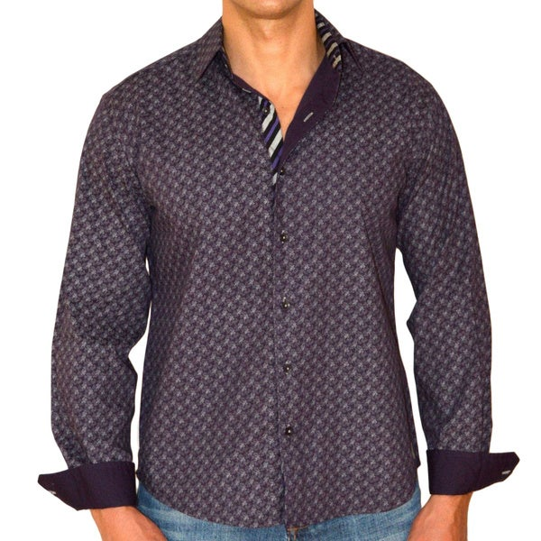 Giorgio Men's Slim Fit Long Sleeve Solid Pure Cotton Brato Casual Shirt