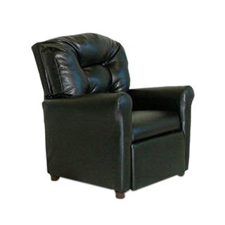 Dozydotes Child Recliner With Cup Holder - Black Leather Like DZD9774