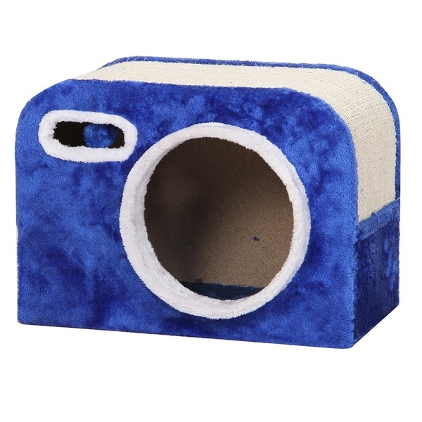 PetPals Flash Camera Shaped Cat Condo with Scratching Pad