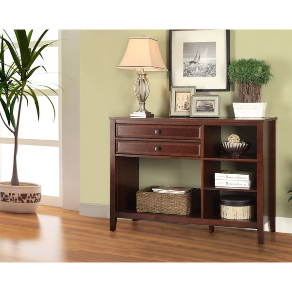 Linon Nomad TV Stand with Display & Storage Space