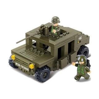 Sluban Interlocking Bricks Hummer Squad Car