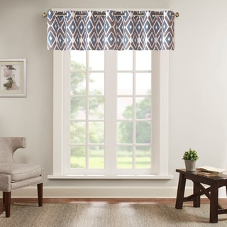 Madison Park Stetsen Diamond Printed Valance