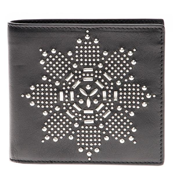 Alexander McQueen Flower Studded Bifold Wallet