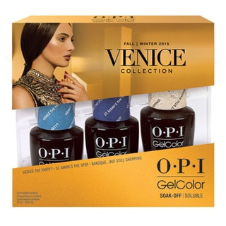 OPI GelColor Venice Collection Fall 2015 Limited Edition Nail Polish (Pack of 3)
