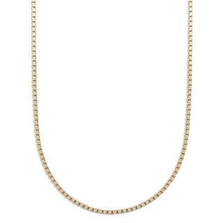 Pori 10k Yellow Gold Diamond Cut Box Venetian Chain Necklace