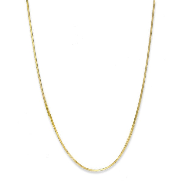 Pori 10k Yellow Gold Snake DC Chain Necklace