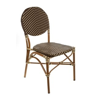 Brown & Cream Color Cafe Bistro Chair