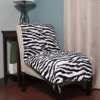 Super Soft Faux Fur Zebra Print Throw Blanket