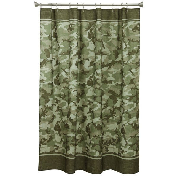 Forest Camo Fabric Shower Curtain