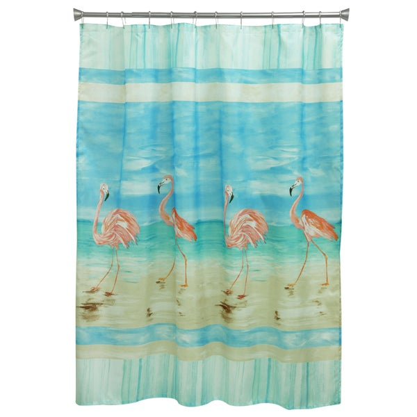 Flamingo Beach Shower Curtain