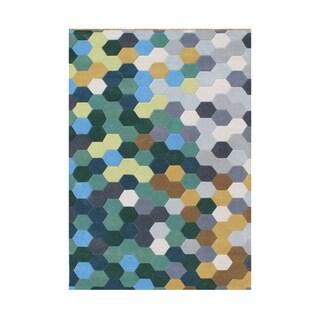 Alliyah Handmade Forest Green New Zealand Blend Wool Rug (5' x 8')