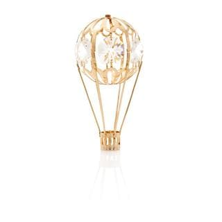 Matashi 24k Goldplated Genuine Crystals Mini Hot Air Balloon Ornament