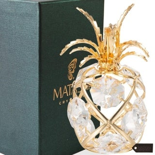 Matashi 24k Goldplated Genuine Crystals Pineapple Ornament