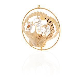 Matashi 24k Goldplated Genuine Crystals Sea Shell Ornament