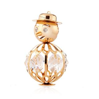 Matashi 24k Goldplated Genuine Crystals Snowman Ornament