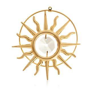 Matashi 24k Goldplated Genuine Crystals Sun Ornament