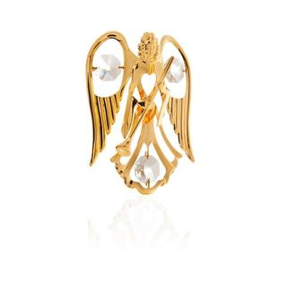 Matashi 24k Goldplated Angel Holding Trumpet Ornament