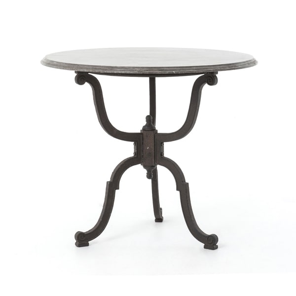 French Industrial Bistro Pedestal Table
