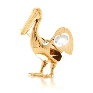 Matashi 24k Goldplated Genuine Crystals Beautiful Pelican Ornament