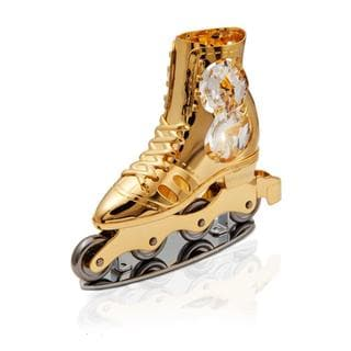 Matashi 24k Goldplated Genuine Crystals Beautiful Roller Blade Ornament