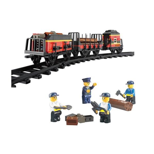 Sluban Interlocking Bricks Cargo Bullet Train