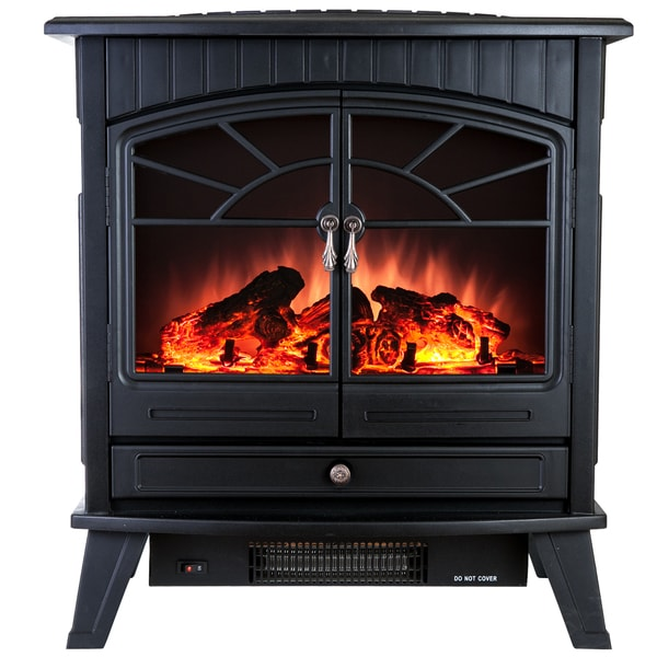 AKDY 23-inch Freestanding Adjustable 1500W 5200 BTU Tempered Glass Portable Electric Fireplace Stove Heater