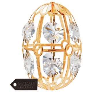 Matashi 24k Goldplated Genuine Crystals Easter Egg Ornament