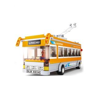 Sluban Interlocking Bricks Trolley Bus